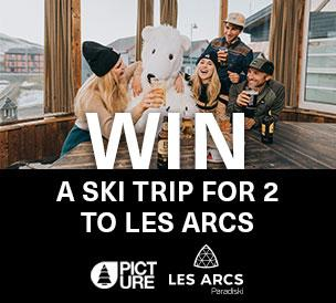 Win a ski trip for two to Les Arcs