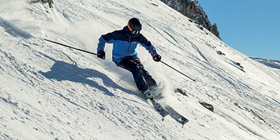 man skiing wearing picture clothing