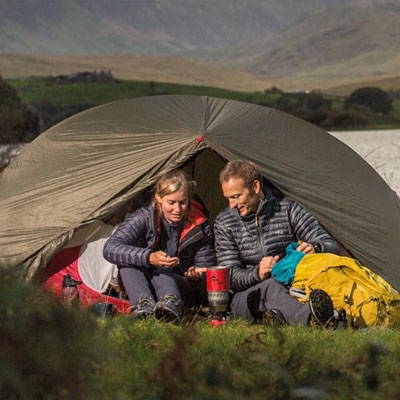 two people camping