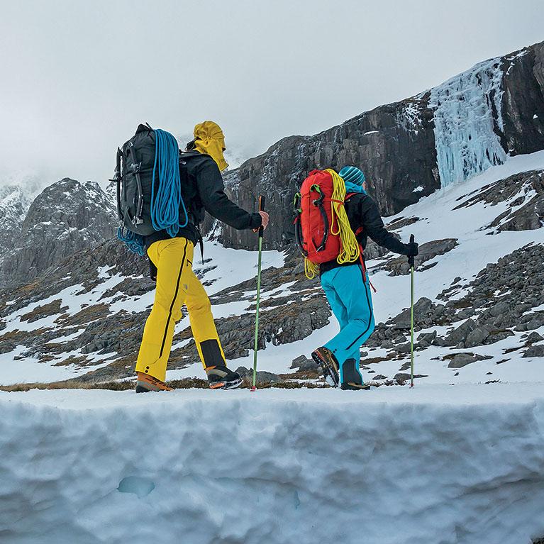 mountaineers hiking on Ice