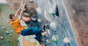 A man climbing