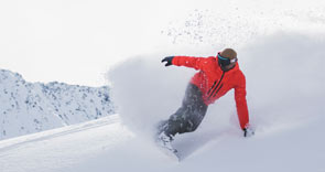 male snowboarding