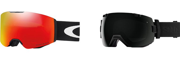 A pair of snowboard goggles