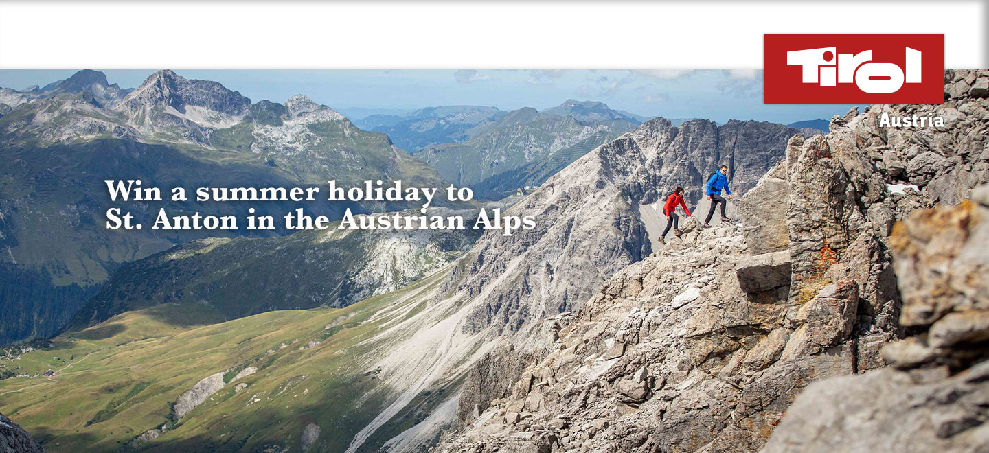 WIN a summer holiday for two to St. Anton in the Austrian Tirol