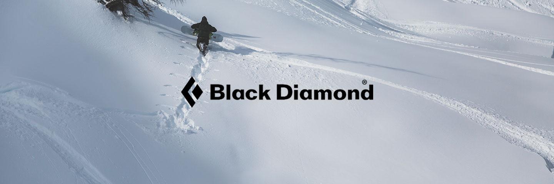 Black Diamond Logo with snowy background