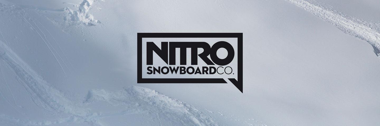 Nitro logo with powder snow background