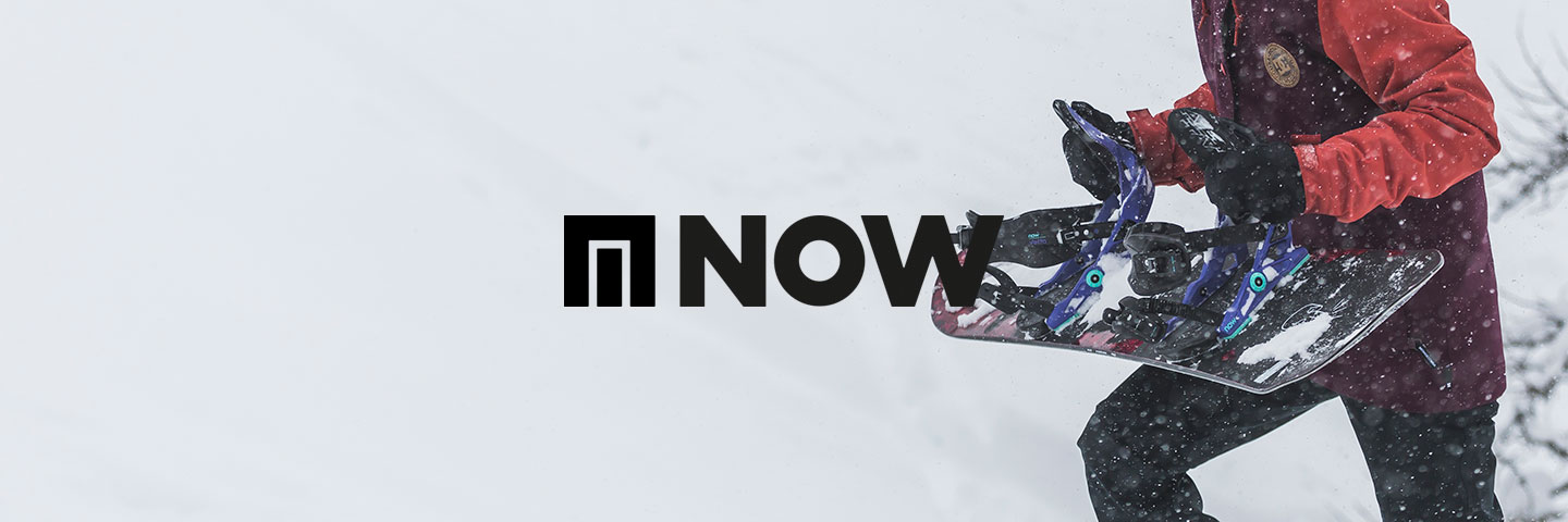 Now logo with snow background