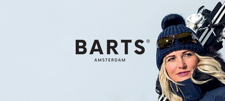 Barts logo with snowy background