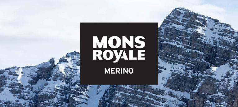 Mons Royale logo with wintry scene