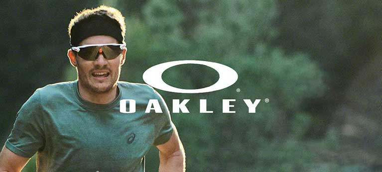 A man running with oakley sunglasses on