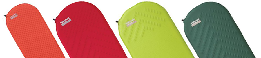 self inflating mats of different colours