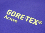 purple fabric with gore-tex active logo