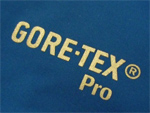 blue fabric with gore-tex pro logo