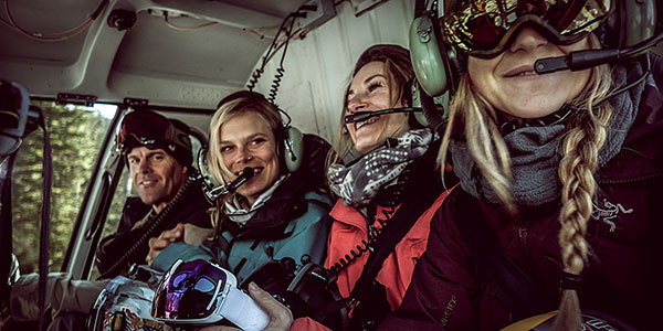 MSP ladies in helicopter