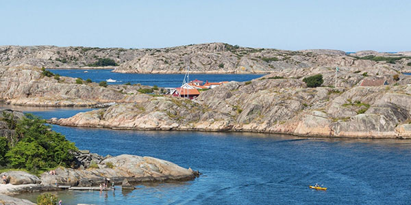 sweden coastline rocky bay