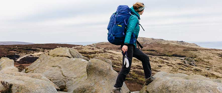 hiking on kinder scout