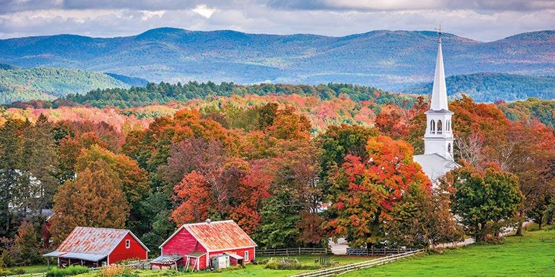 Autumn in Vermont USA