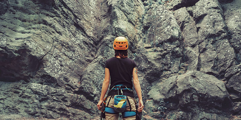 Don't let anything hold you back from climbing