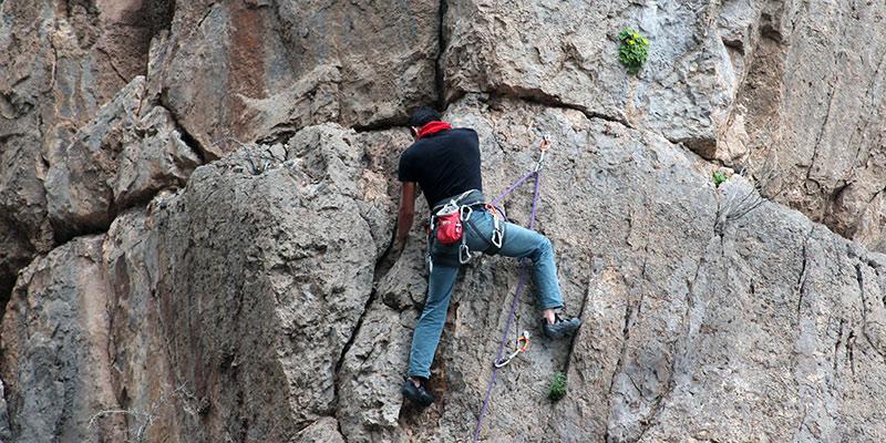 Start with sport climbing