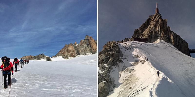 Glacier crossing and Aiguille Du Midi
