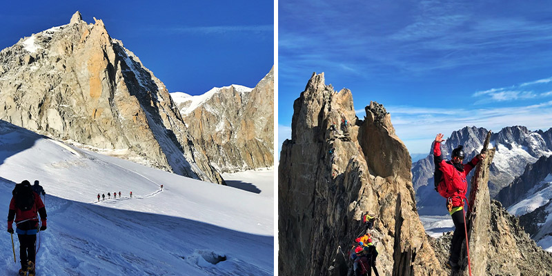 Glacier hike + Scramble Aiguille d'Entrèves