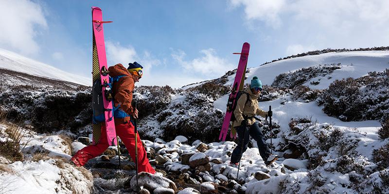 Glenmore Lodge Wild Ski Weekend - Hiking Up