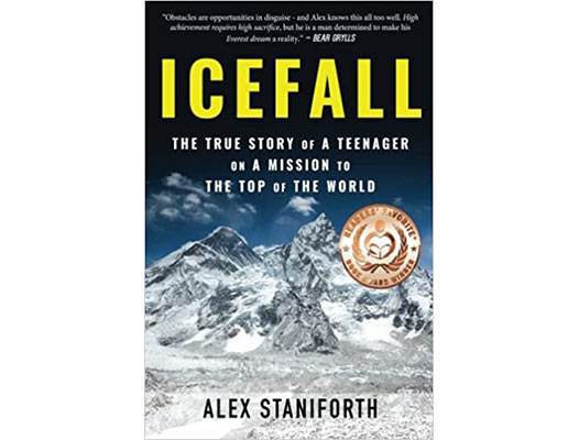 Icefall: The True Story of a Teenager on a Mission to the Top of the World Book Cover