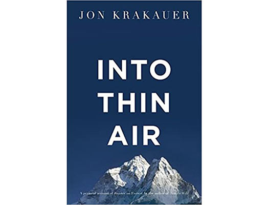 Into Thin Air: A Personal Account of the Everest Disaster Book Cover