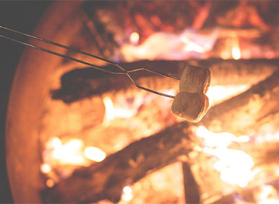 Campfire and marshmellows
