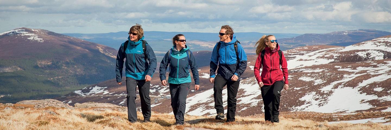 four friends hillwalking