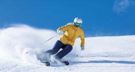 A backcountry skier