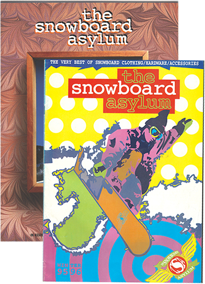 The Snowboard Asylum Front Cover 95&00