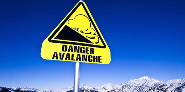 an avalanche sign