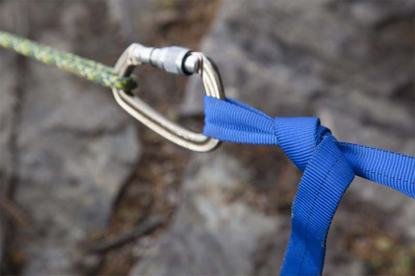 A sling and karabiner